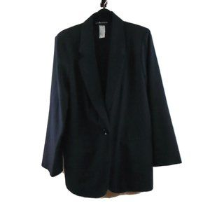 Sag Harbor Suit Jacket 10 Navy Blue Light Weight